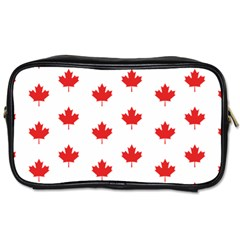 Canadian Maple Leaf Pattern Toiletries Bags 2 Side by Mariart