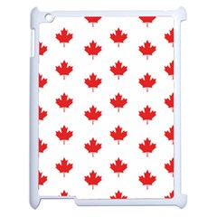 Canadian Maple Leaf Pattern Apple Ipad 2 Case (white) by Mariart