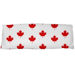 Canadian Maple Leaf Pattern Body Pillow Case Dakimakura (two Sides) by Mariart