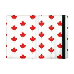 Canadian Maple Leaf Pattern Apple Ipad Mini Flip Case by Mariart