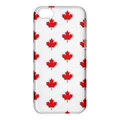 Canadian Maple Leaf Pattern Apple Iphone 5c Hardshell Case by Mariart