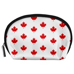 Canadian Maple Leaf Pattern Accessory Pouches (large)  by Mariart