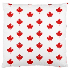 Canadian Maple Leaf Pattern Large Flano Cushion Case (one Side) by Mariart
