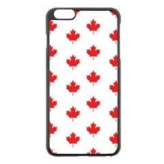 Canadian Maple Leaf Pattern Apple Iphone 6 Plus/6s Plus Black Enamel Case by Mariart