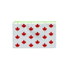 Canadian Maple Leaf Pattern Cosmetic Bag (xs) by Mariart