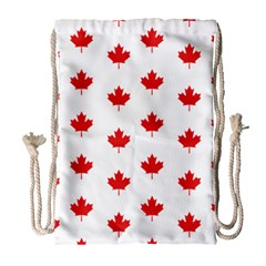 Canadian Maple Leaf Pattern Drawstring Bag (large) by Mariart