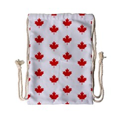 Canadian Maple Leaf Pattern Drawstring Bag (small) by Mariart
