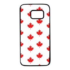 Canadian Maple Leaf Pattern Samsung Galaxy S7 Black Seamless Case