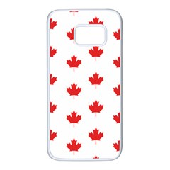 Canadian Maple Leaf Pattern Samsung Galaxy S7 White Seamless Case by Mariart