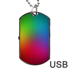 Bright Lines Resolution Image Wallpaper Rainbow Dog Tag Usb Flash (one Side) by Mariart