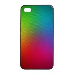 Bright Lines Resolution Image Wallpaper Rainbow Apple Iphone 4/4s Seamless Case (black) by Mariart