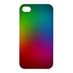 Bright Lines Resolution Image Wallpaper Rainbow Apple Iphone 4/4s Hardshell Case by Mariart