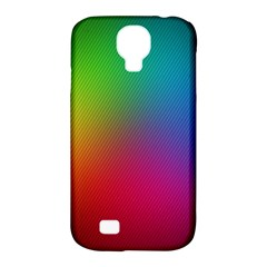 Bright Lines Resolution Image Wallpaper Rainbow Samsung Galaxy S4 Classic Hardshell Case (pc+silicone) by Mariart