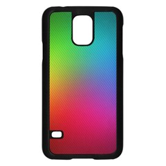 Bright Lines Resolution Image Wallpaper Rainbow Samsung Galaxy S5 Case (black) by Mariart