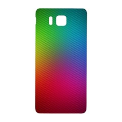 Bright Lines Resolution Image Wallpaper Rainbow Samsung Galaxy Alpha Hardshell Back Case by Mariart