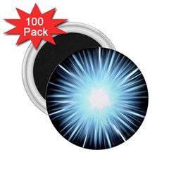 Bright Light On Black Background 2 25  Magnets (100 Pack)  by Mariart