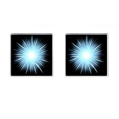 Bright Light On Black Background Cufflinks (square) by Mariart