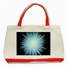 Bright Light On Black Background Classic Tote Bag (red) by Mariart