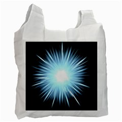 Bright Light On Black Background Recycle Bag (one Side) by Mariart