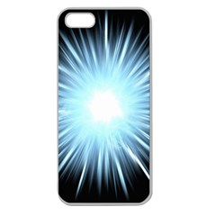 Bright Light On Black Background Apple Seamless Iphone 5 Case (clear) by Mariart