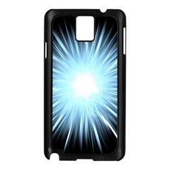 Bright Light On Black Background Samsung Galaxy Note 3 N9005 Case (black) by Mariart
