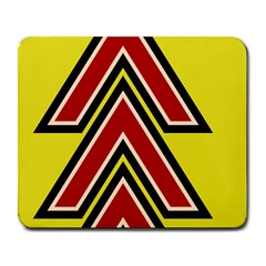 Chevron Symbols Multiple Large Red Yellow Large Mousepads by Mariart