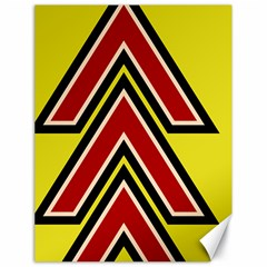 Chevron Symbols Multiple Large Red Yellow Canvas 18  X 24   by Mariart