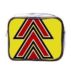 Chevron Symbols Multiple Large Red Yellow Mini Toiletries Bags by Mariart