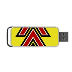 Chevron Symbols Multiple Large Red Yellow Portable Usb Flash (one Side) by Mariart