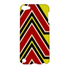 Chevron Symbols Multiple Large Red Yellow Apple Ipod Touch 5 Hardshell Case by Mariart