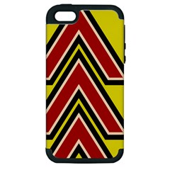 Chevron Symbols Multiple Large Red Yellow Apple Iphone 5 Hardshell Case (pc+silicone) by Mariart