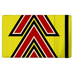 Chevron Symbols Multiple Large Red Yellow Apple Ipad 3/4 Flip Case by Mariart