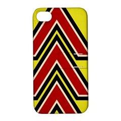 Chevron Symbols Multiple Large Red Yellow Apple Iphone 4/4s Hardshell Case With Stand by Mariart