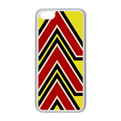 Chevron Symbols Multiple Large Red Yellow Apple Iphone 5c Seamless Case (white) by Mariart