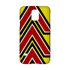 Chevron Symbols Multiple Large Red Yellow Samsung Galaxy S5 Hardshell Case  by Mariart