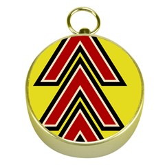 Chevron Symbols Multiple Large Red Yellow Gold Compasses by Mariart