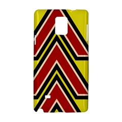 Chevron Symbols Multiple Large Red Yellow Samsung Galaxy Note 4 Hardshell Case