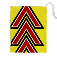 Chevron Symbols Multiple Large Red Yellow Drawstring Pouches (xxl) by Mariart