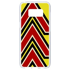 Chevron Symbols Multiple Large Red Yellow Samsung Galaxy S8 White Seamless Case by Mariart