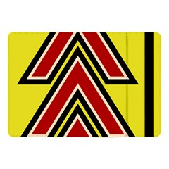 Chevron Symbols Multiple Large Red Yellow Apple Ipad Pro 10 5   Flip Case by Mariart