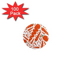 Carrots Fruit Vegetable Orange 1  Mini Magnets (100 Pack)  by Mariart