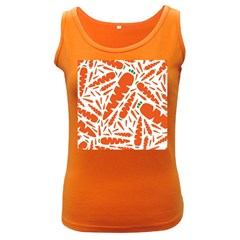 Carrots Fruit Vegetable Orange Women s Dark Tank Top by Mariart