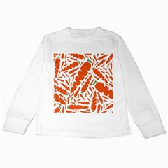 Carrots Fruit Vegetable Orange Kids Long Sleeve T Shirts by Mariart