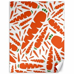 Carrots Fruit Vegetable Orange Canvas 18  X 24   by Mariart