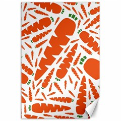 Carrots Fruit Vegetable Orange Canvas 24  X 36  by Mariart