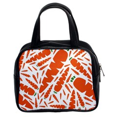 Carrots Fruit Vegetable Orange Classic Handbags (2 Sides) by Mariart