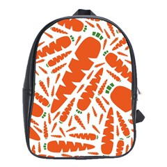 Carrots Fruit Vegetable Orange School Bag (large)