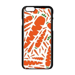 Carrots Fruit Vegetable Orange Apple Iphone 6/6s Black Enamel Case by Mariart