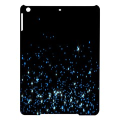 Blue Glowing Star Particle Random Motion Graphic Space Black Ipad Air Hardshell Cases by Mariart