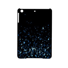 Blue Glowing Star Particle Random Motion Graphic Space Black Ipad Mini 2 Hardshell Cases by Mariart